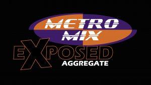 metromix exposed aggregate conctrete logo